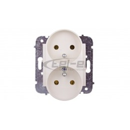 Szybkozłączka do puszek instalacyjnych MIKRO 4x 0,6-0,8mm2 jasnoszara 243-304