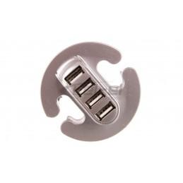 HUB USB 4 porty srebrny...