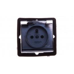 Simon Basic Przycisk dzwonek z podświetleniem 10AX 250V zaciski śrubowe srebrny mat BMD1L.01/43