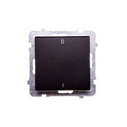 Simon Basic Przycisk światło z podświetleniem 10AX 250V zaciski śrubowe srebrny mat BMS1L.01/43