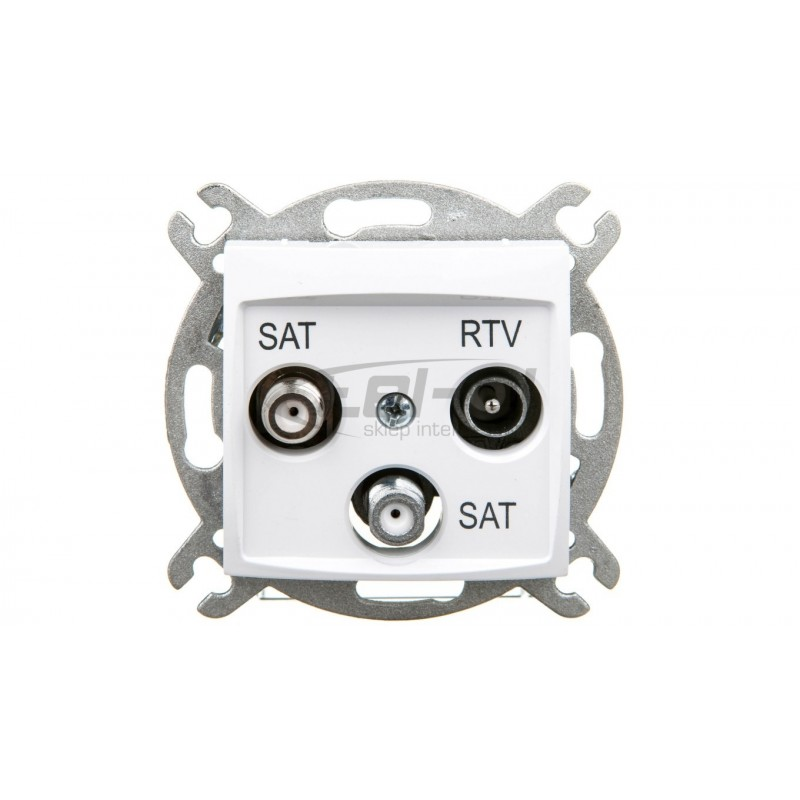 Simon Basic Gniazdo antenowe RTV/DATA satynowe BMAD.01/29