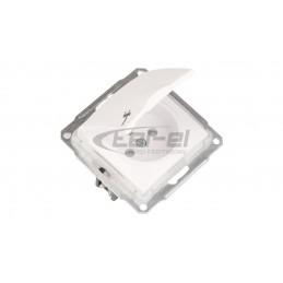 DECO Ściemniacz elektroniczny przyciskowo-obrotowy do lamp LED srebrny metalik 7DRO-2
