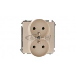 DECO Moduł rozszerzający puszkę natynkową pojedynczą. składaną do ramek wielokrotnych DECO beżowy 1DPU-2