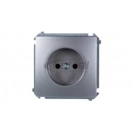FLEXI Ściemniacz elektroniczny przyciskowo-obrotowy brązowy metalik 9FRO-1