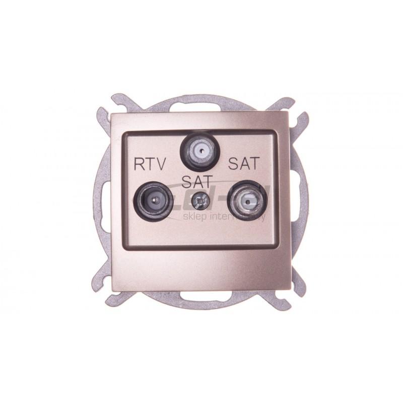 Sygnalizator optyczno-akustyczny, zewnętrzny, z czerwonym światłem LED, wewn. osłona metalowa SP-4003 R