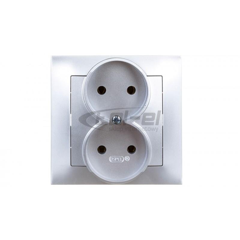 Simon Basic Regulator 1–10V do załączania i regulacji źródeł światła srebrny mat BMS9V.01/43