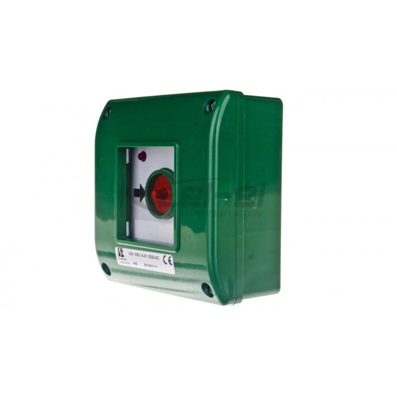 Oprawa LED MUNA PT 230V AC czujnik ZLO czerwona 02-222-43 LED10222243