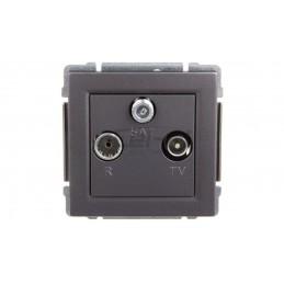 Simon 54 Premium Puszka natynkowa głęboka pojedyncza składana srebrny mat DSC/43