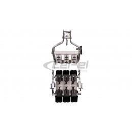 Szybkozłączka 3-torowa 0.5-2.5mm2 450V 24A jasnoszara 61 325 LGR 2054485 100szt.