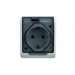 VALENA Przycisk podwójny przełączny aluminium 770218